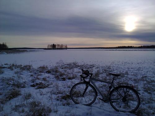 pyöräily nokian868mp kuusamojärvi trekx01 raivioniemi