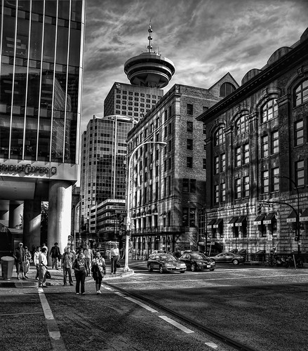 Downtown Vancouver, British Columbia (HDR) by Brandon Godfrey