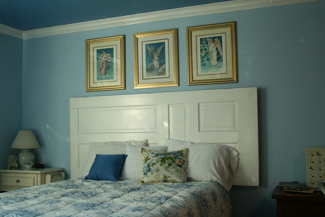Photo for How to make a headboard out of a door