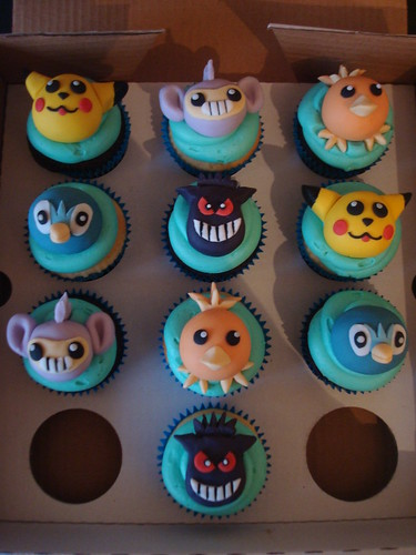 Pokemon cupcakes for a birthday boy by Angelina Cupcake