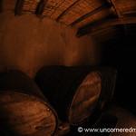 Storing the Wine in Barrels - El Valle, Bolivia