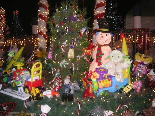 Things to do in Las Vegas for Christmas - Opportunity Villigae Magical Forest display.