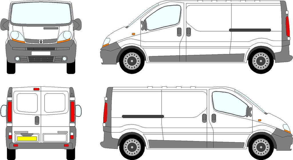 trafic van vauxhall vivaro swb swing doors 2000 08 With van sign writing templates