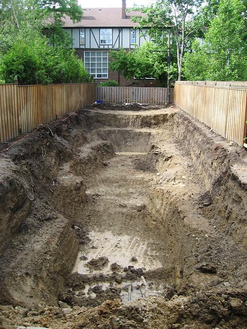 Koi Pond Construction Excavation 5 Flickr Photo Sharing