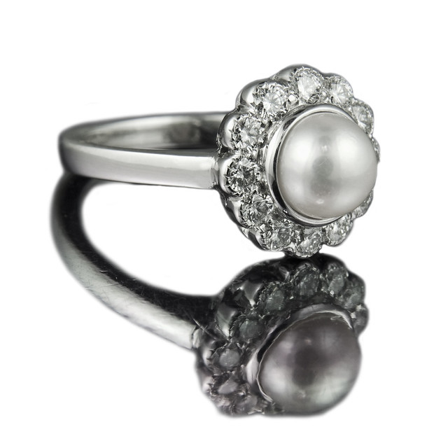 pearl engagement ring another variation on