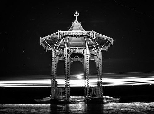 """Southsea Band Stand.  Long exposure with Ferry Going by.  <a href=""""#//www.hexagoneye.com"""""""" rel=""""noreferrer nofollow""""> A hexagoneye.com Pic</a>"""