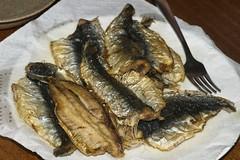 tilapia(0.0), animal(0.0), herring(0.0), mackerel(0.0), fish(0.0), pacific saury(0.0), sauries(0.0), sardine(0.0), milkfish(0.0), smoked fish(1.0), fish(1.0), seafood(1.0), food(1.0), dish(1.0), shishamo(1.0), cuisine(1.0),