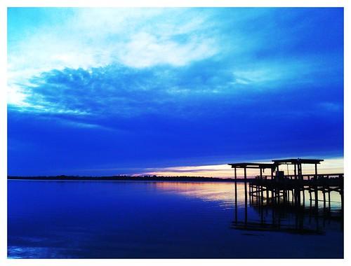 sunset bay dock iphone photoshopmobile