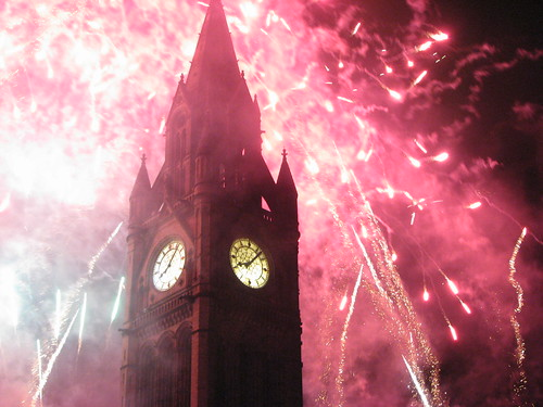 manchester town Hall Fireworks 3