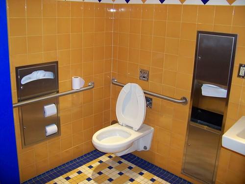 Pop Century Classic Hall restroom - Handicapped stall