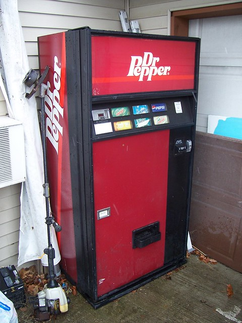vintage dr pepper vending machine