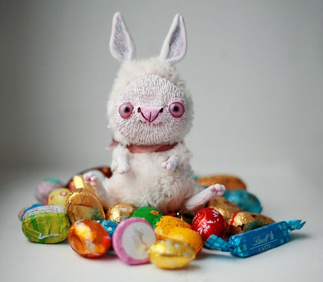white March rabbit