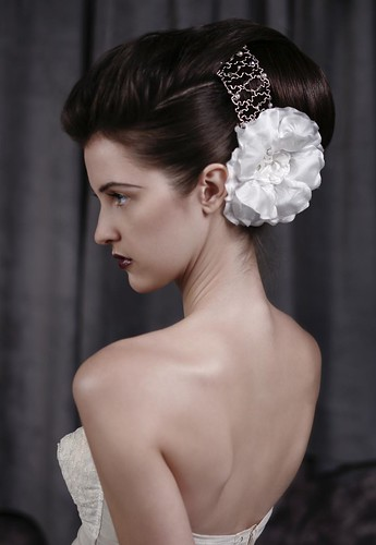 A large and extravagant bridal hairstyle