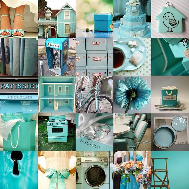 Tiffany blue wedding cake 5 Bird house in aqua 6