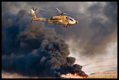 IDFAF Peten Apache AH-64 fly past smoke