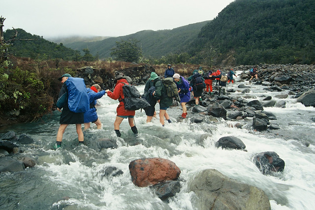 Trampers on Whakapapaiti track