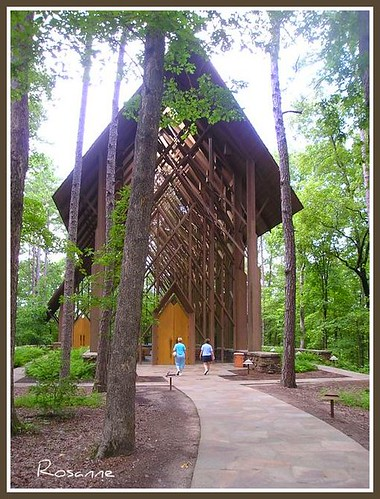 Campanille and chapel at Garvan Woodland Gardens, Hot Springs, Arkansas