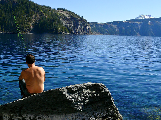 fishing crater lake flickr photo sharing