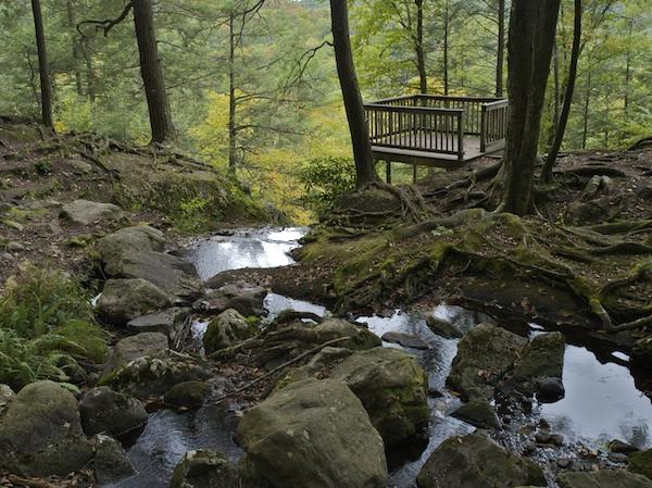 Observation Deck above Buttermilk Falls