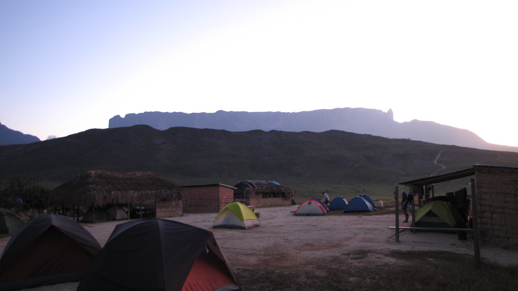 Our camp and Roraima in the morning - 2