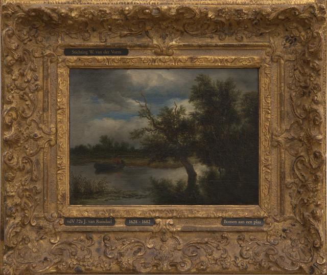Museum Boijmans van Beuningen - Bomen aan een plas - Jacob van Ruisdael, met lijst