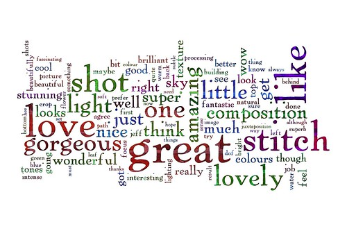 Word Week: A word cloud of my comments