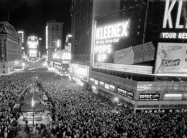 Times Square New Years Eve 1950s