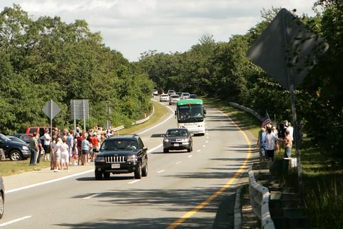 Sen. Edward Kennedy Motorcade 025