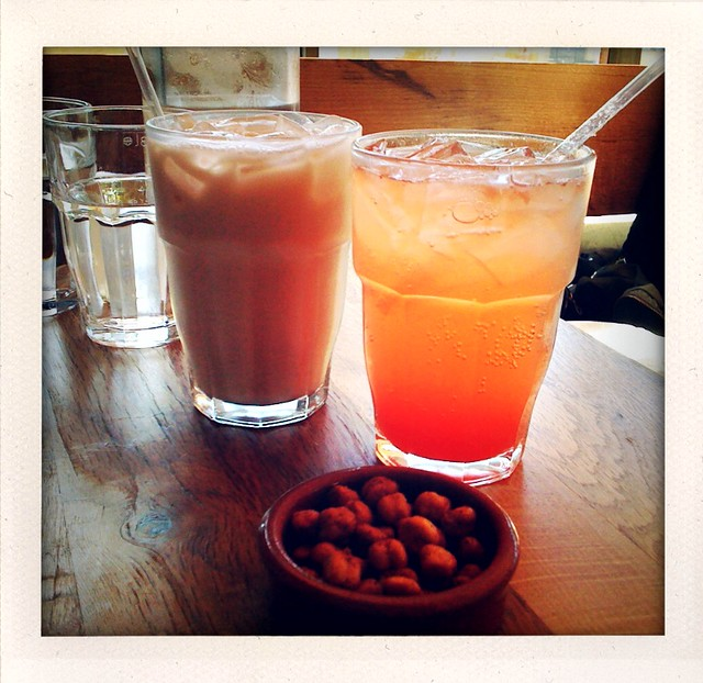 Almond Horchata, Strawberry Lemonade, spiced garbanzos @NopalitoSF ...