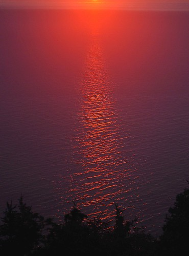 sunset red canada water nationalpark novascotia capebreton gulfofstlawrence cabottrail
