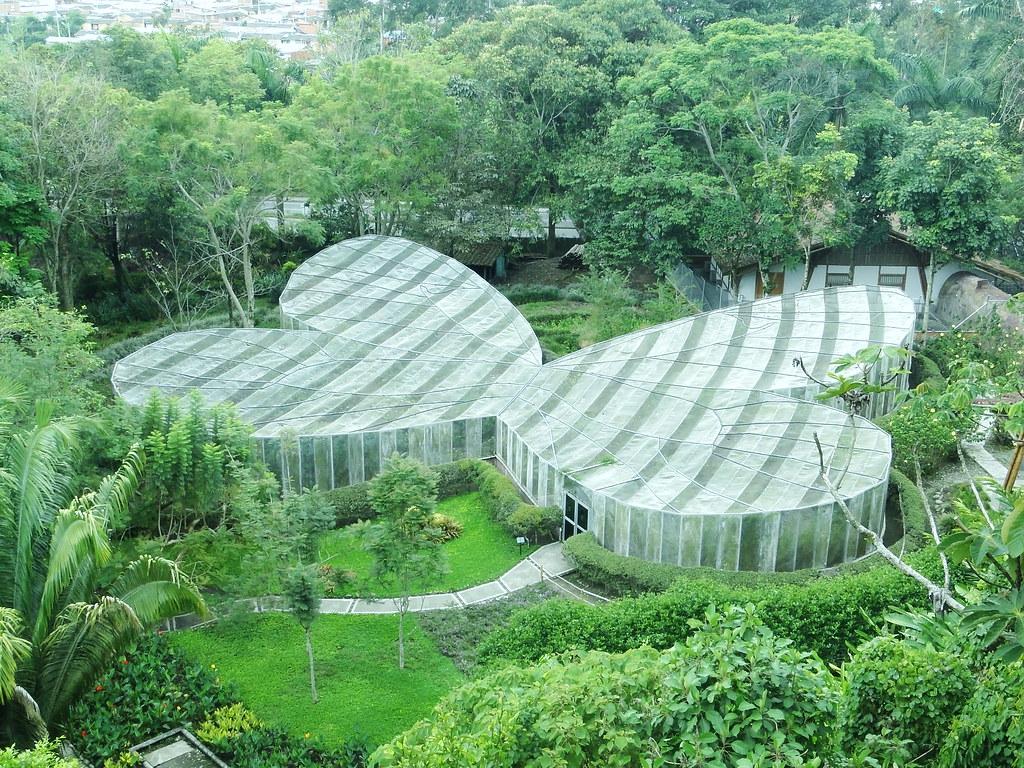 Imagen del Mariposario en el Jardín Botánico del Quindio