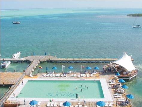 vacation sun bar club sunrise hotel mar san colombia piscina niños isla andrés caribe