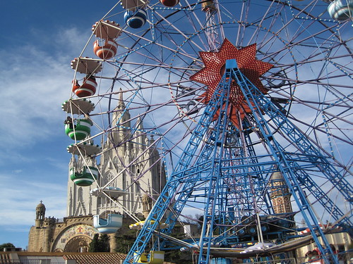Sagrat Cor and Tibidabo Amusement Park Barcelona