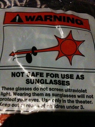 These glasses allow the sun to stab your eye. #warning