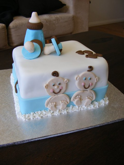 twin baby shower cake flickr photo sharing