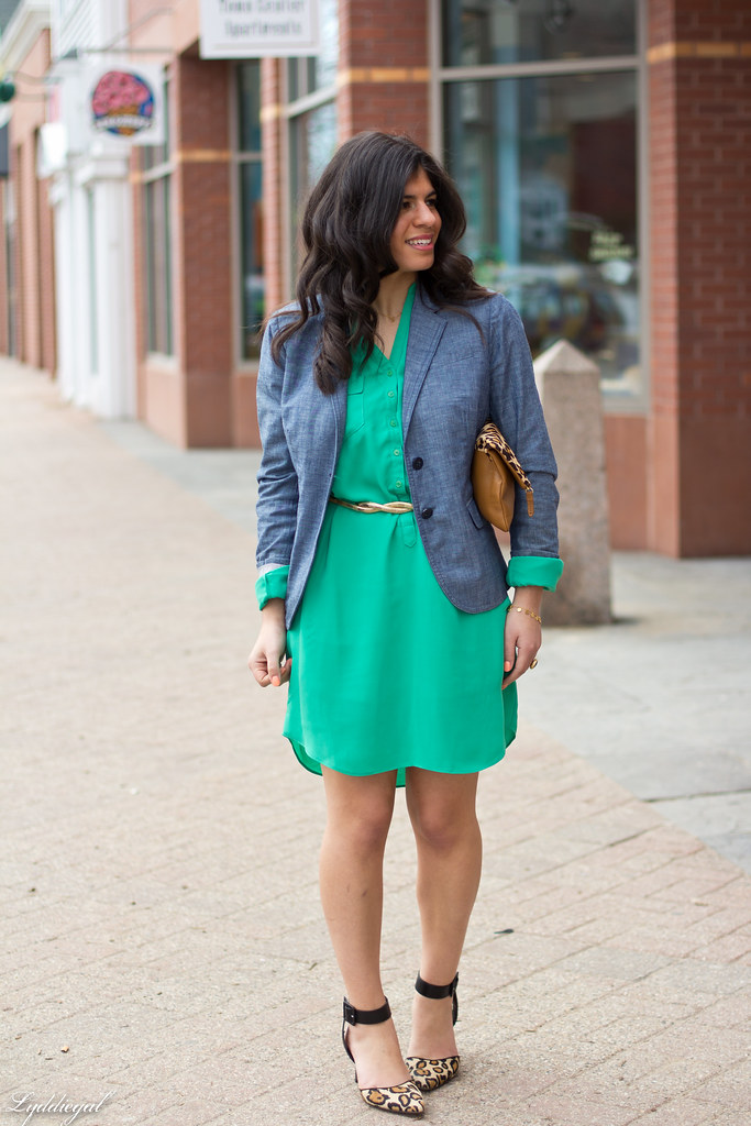 Emerald Dress, Chambray Blazer, Leopard-2.jpg