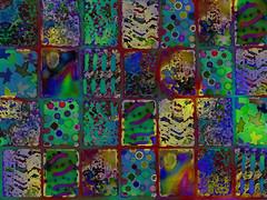 Dark Quilt Background ~ Free