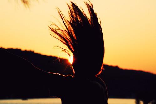 light sunset summer sky people anna lake girl silhouette clouds hair person movement nikon newhampshire teenager winnipesaukee d40 nikond40