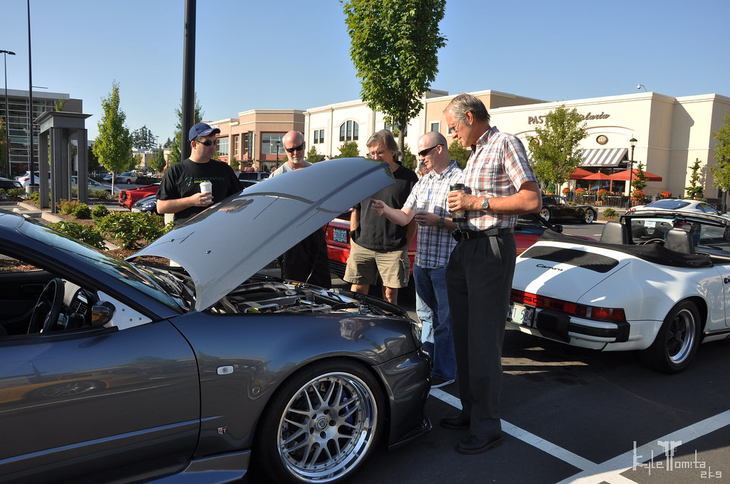 Jason Oefelein at Cars and Coffee