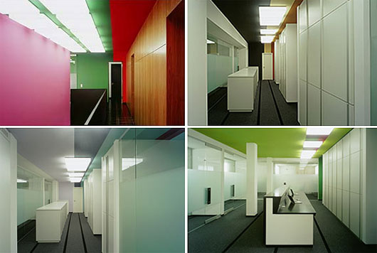 Colorful office interior advertising agency in panama for Creative interior design agency