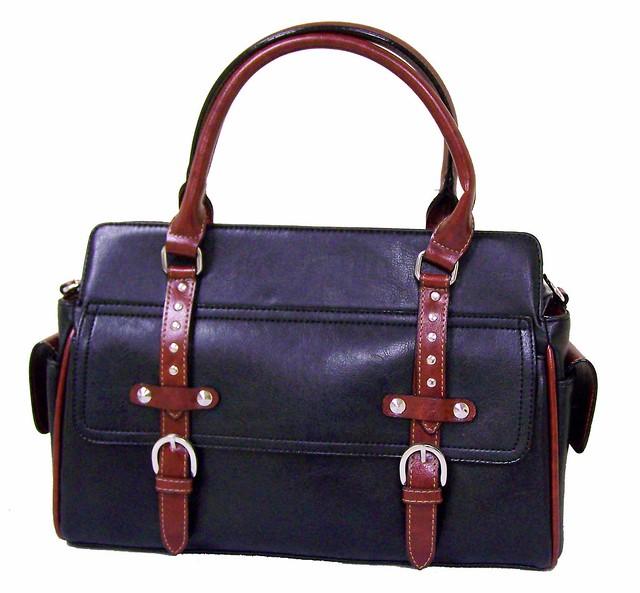 Designer Leather Handbag Black And Red Leather Flickr