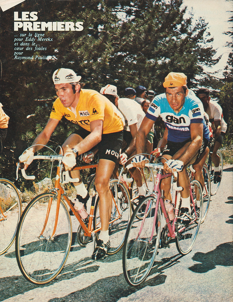 Poulidor and merckx a photo on flickriver for Miroir du cyclisme