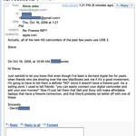 Steve Jobs reply