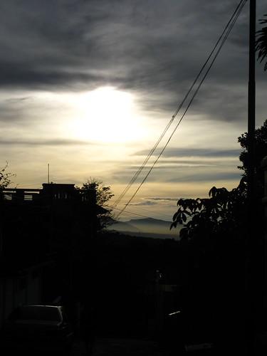 shadow sky sun sunrise dark wire