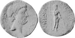 RRC 531/1 Denarius Antony, Male standing P VENTIDI PONT IMP