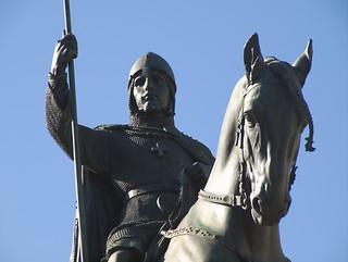 Image of Josef Václav Myslbek. june statue prague duke praha olympus 2009 e30 fourthirds saintwenceslas josefváclavmyslbek