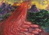 "Sturm und Drang,  2009,  oil/linen,  48"" x 66"""