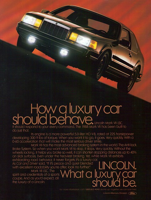 1988 Lincoln Continental Mark VII LSC