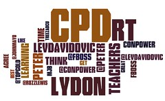 Word Cloud from #edchatie 23 May 11
