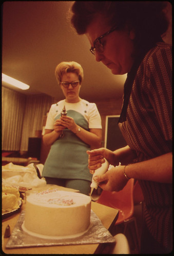 Cake Decorating Class, Part of Continuing Education Program of Colorado Mountain College, Meets in Rifle, 10/1972